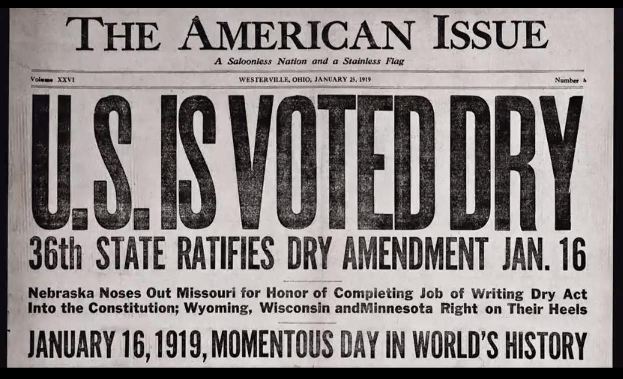 Prohibition - Prohibition Headline