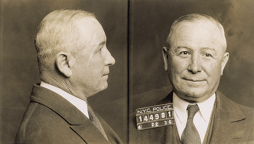 Johnny Torrio - Johnny Torrio Mugshot - 1936