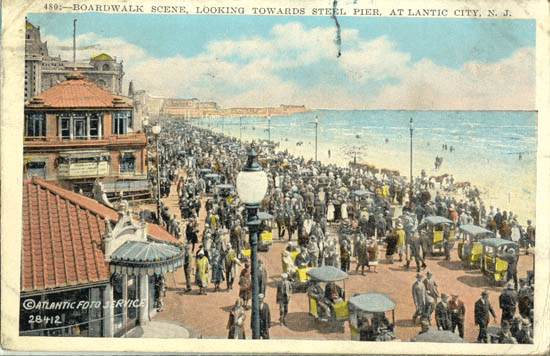 Atlantic City - Atlantic City Boardwalk Postcard